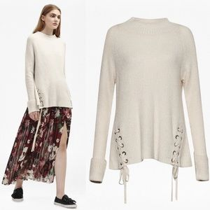 French connection freedom fringe knit sweater smal